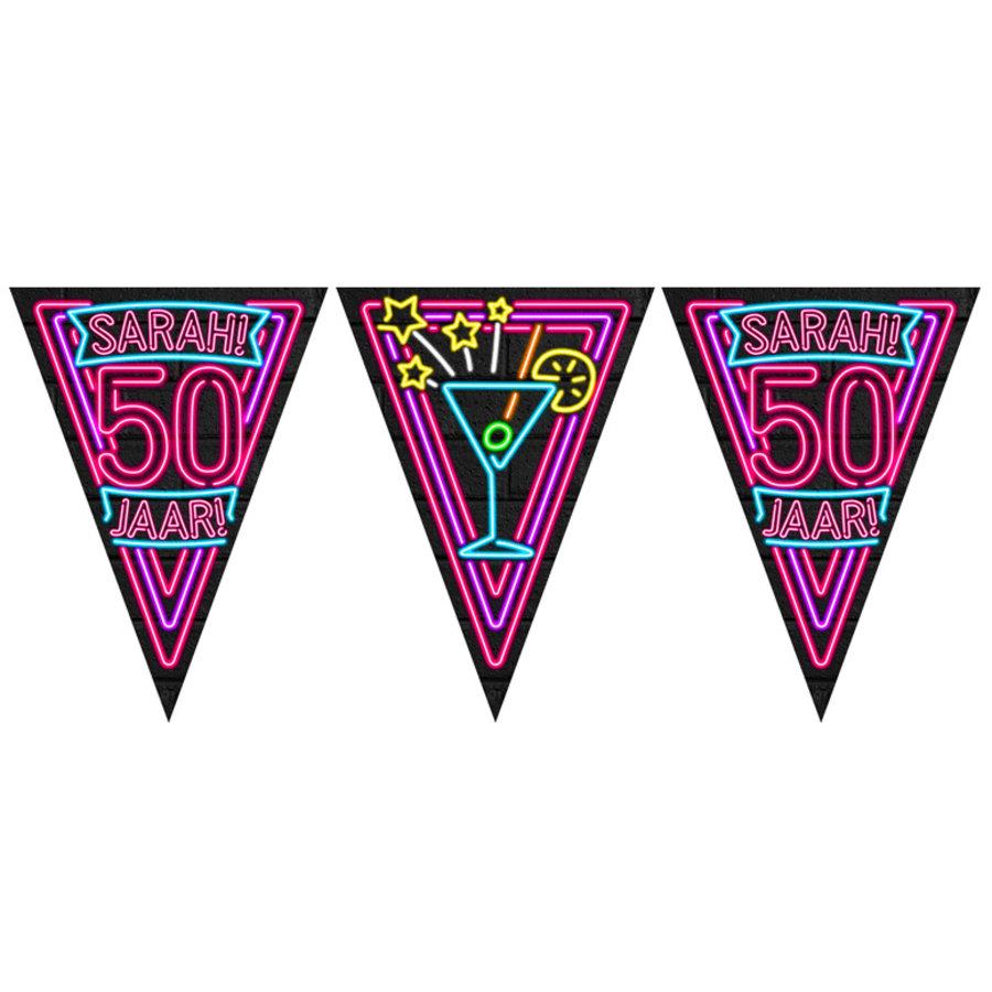 Vlaggenlijn Sarah 50 jaar NEON
