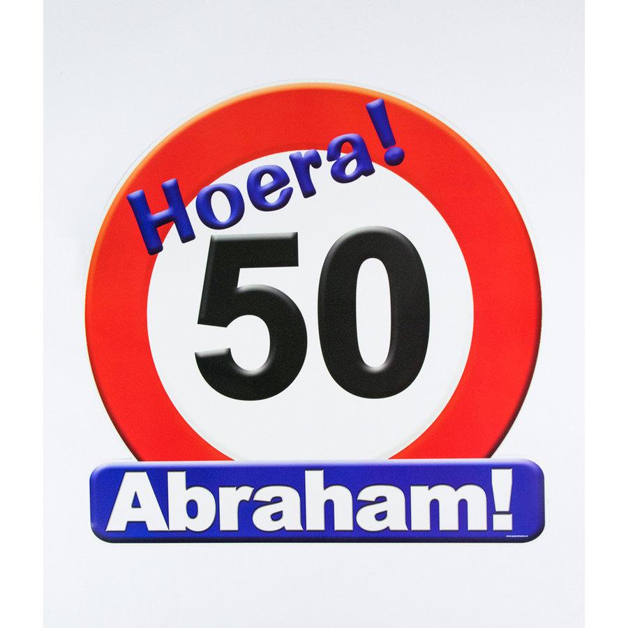 Schild Hoera 50 Abraham groot