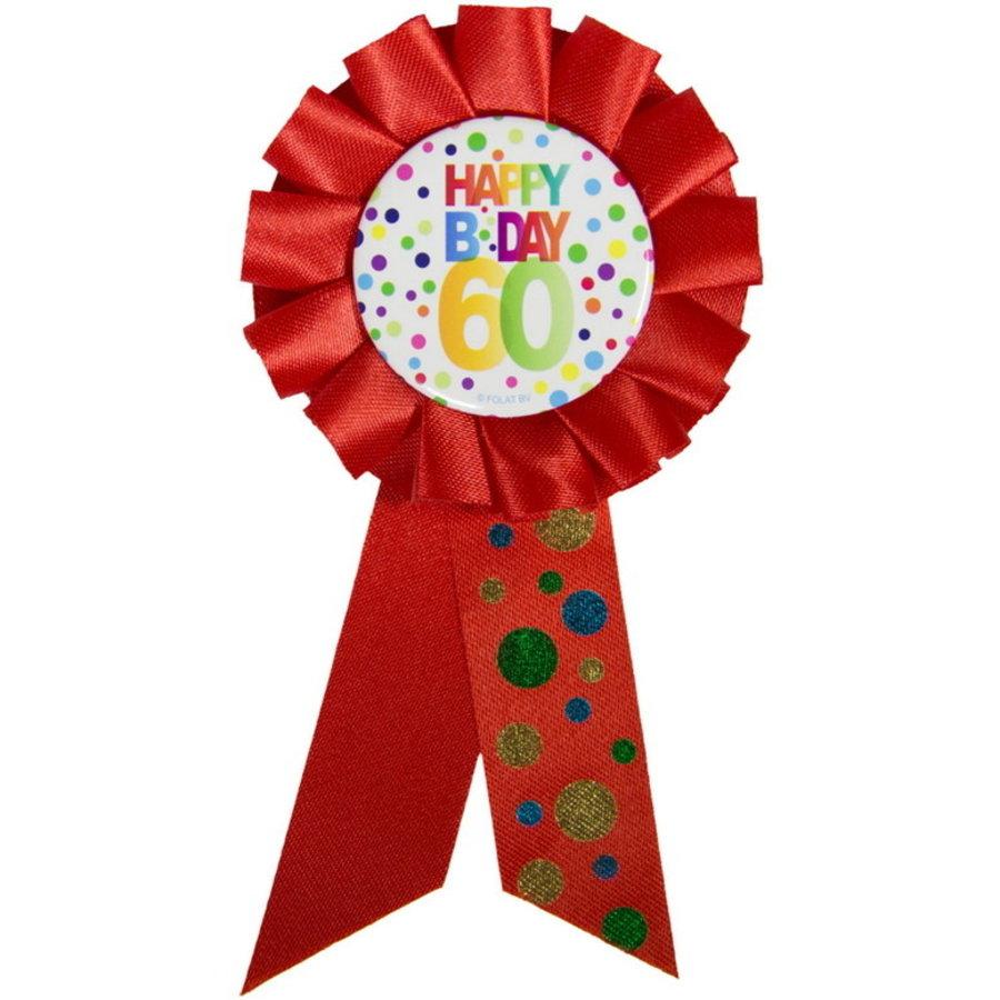 Rozet Happy B Day 60 jaar dots