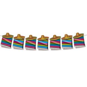 Slinger Mexicaanse poncho met sombrero DIY