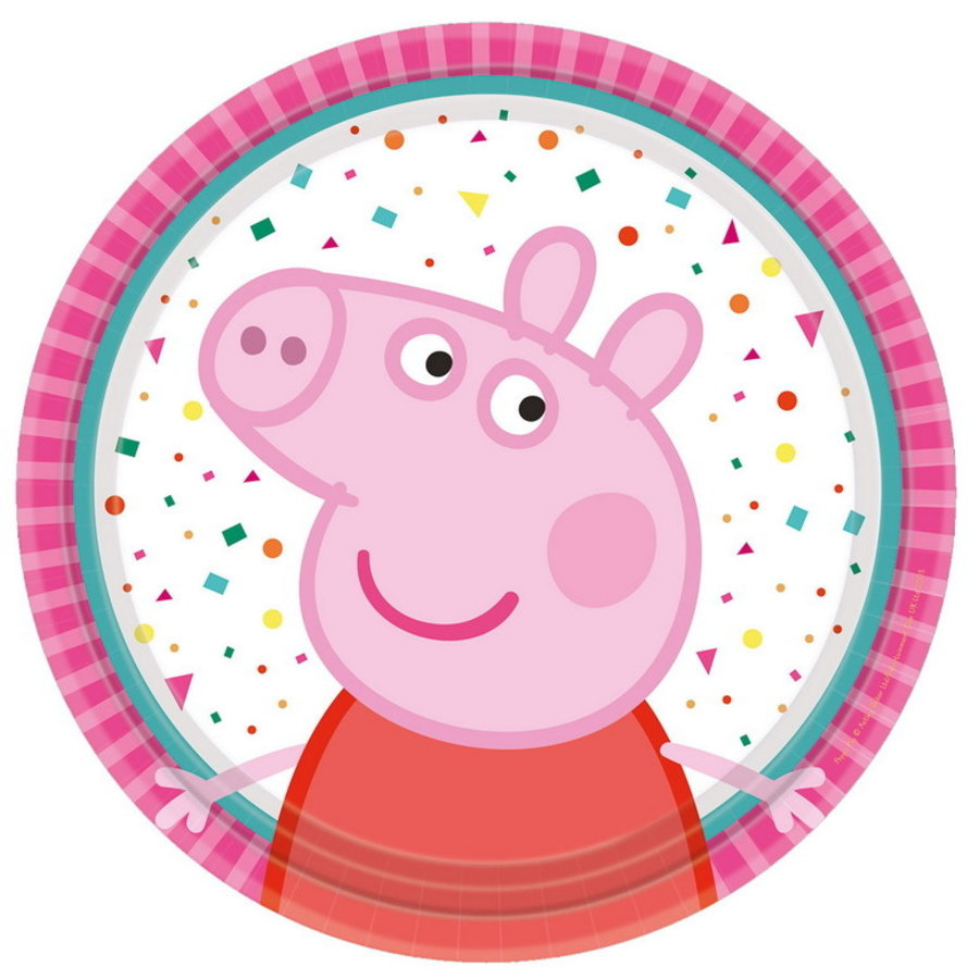 Gebakbordjes Peppa Pig rainbow