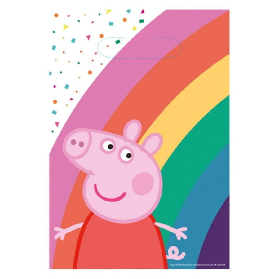 Feestzakjes Peppa Pig rainbow 8 stuks