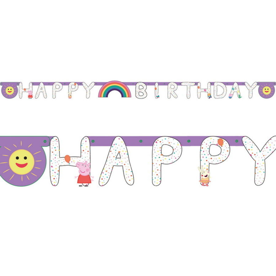 Letterslinger Peppa Pig en friends rainbow