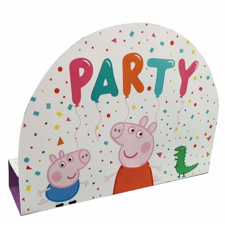 Uitnodigingskaartjes Peppa Pig rainbow 8 stuks