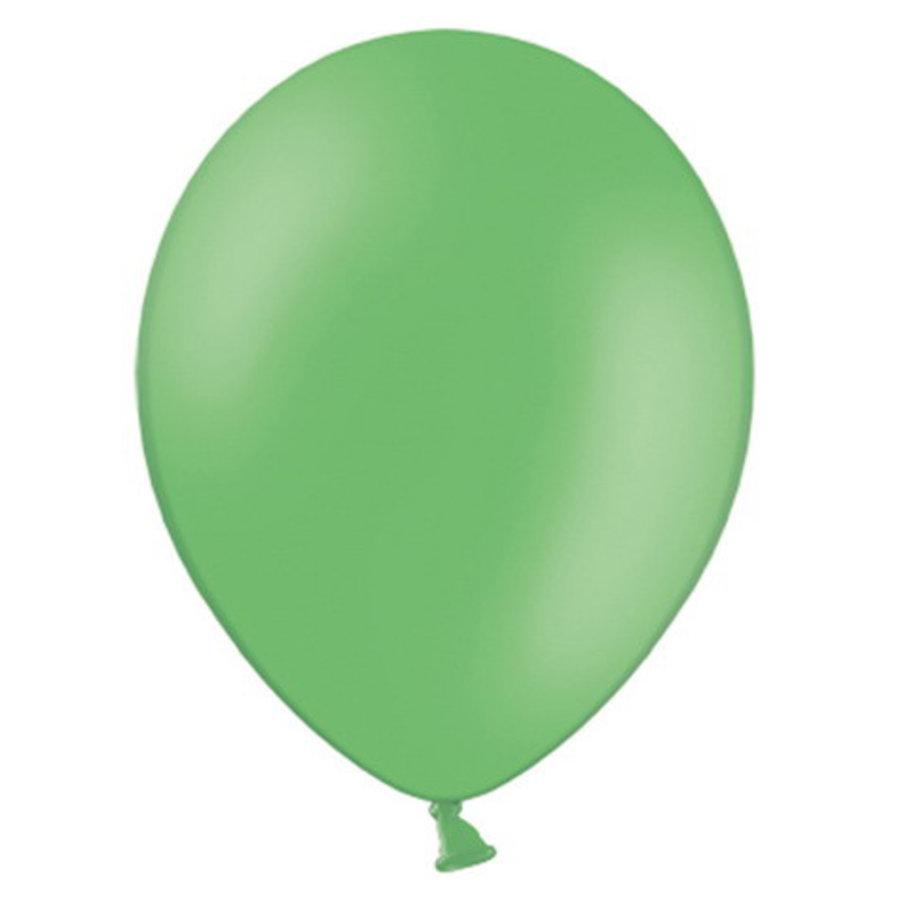 Ballonnen grasgroen 10 stuks
