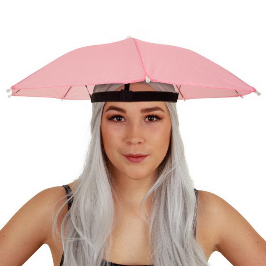Paraplu hoed roze