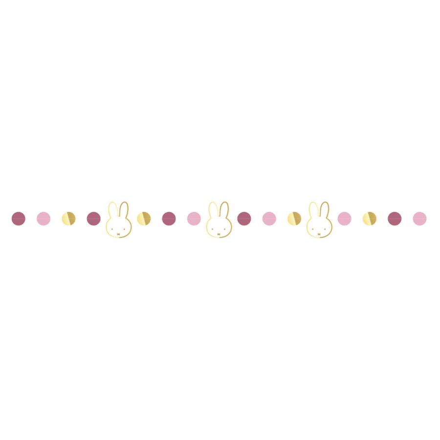 Slinger Nijntje met stippen goud-roze