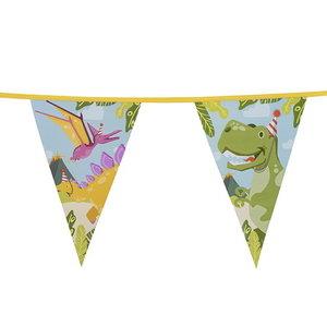 Vlaggenlijn Dino party 6 meter
