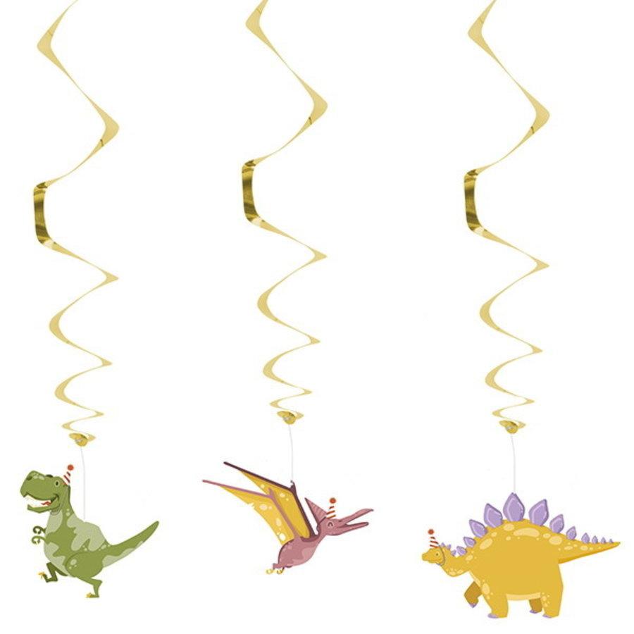Hangdecoraties Dino party 3 stuks