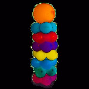 Set voor een ballonnen zuil