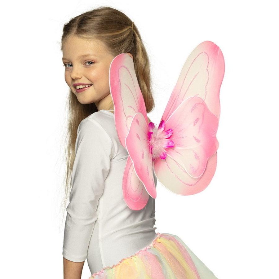 Vleugels vlinder roze