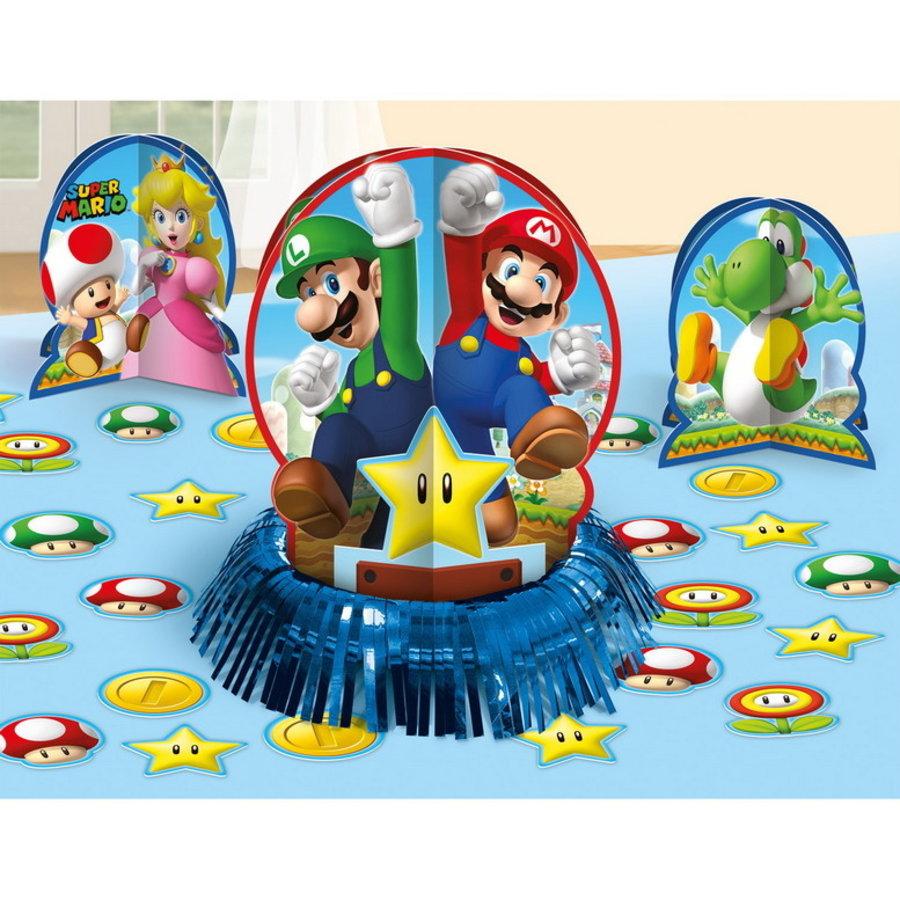 Tafeldecoraties Super Mario groot 3 stuks