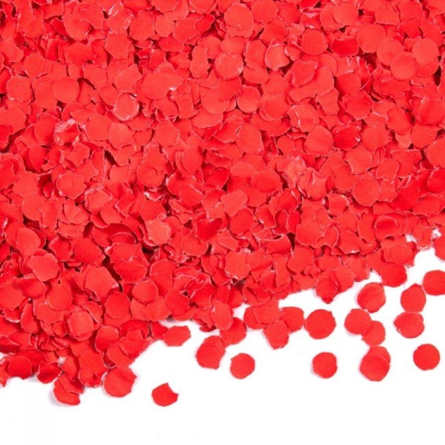 Confetti 100 gram rood