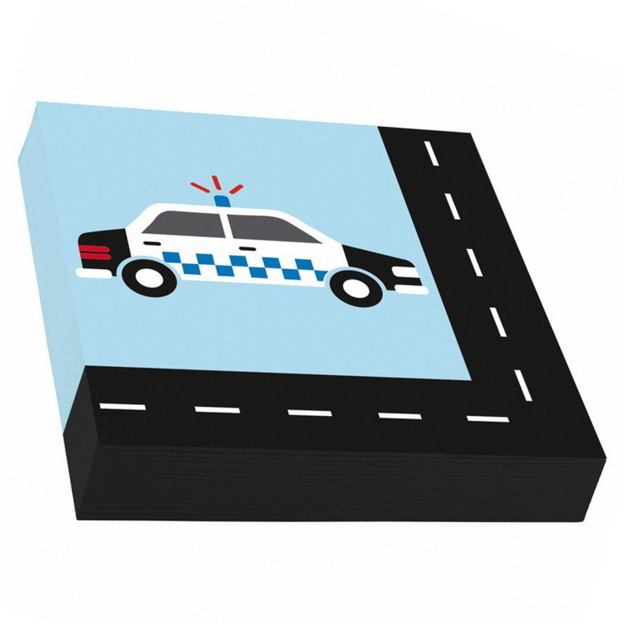 Servetten Politie en Brandweer on the road