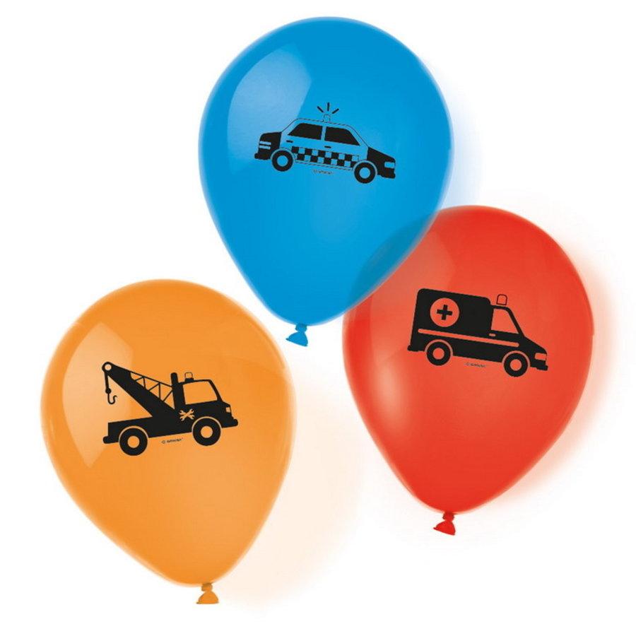 Ballonnen Politie on the road 6 stuks