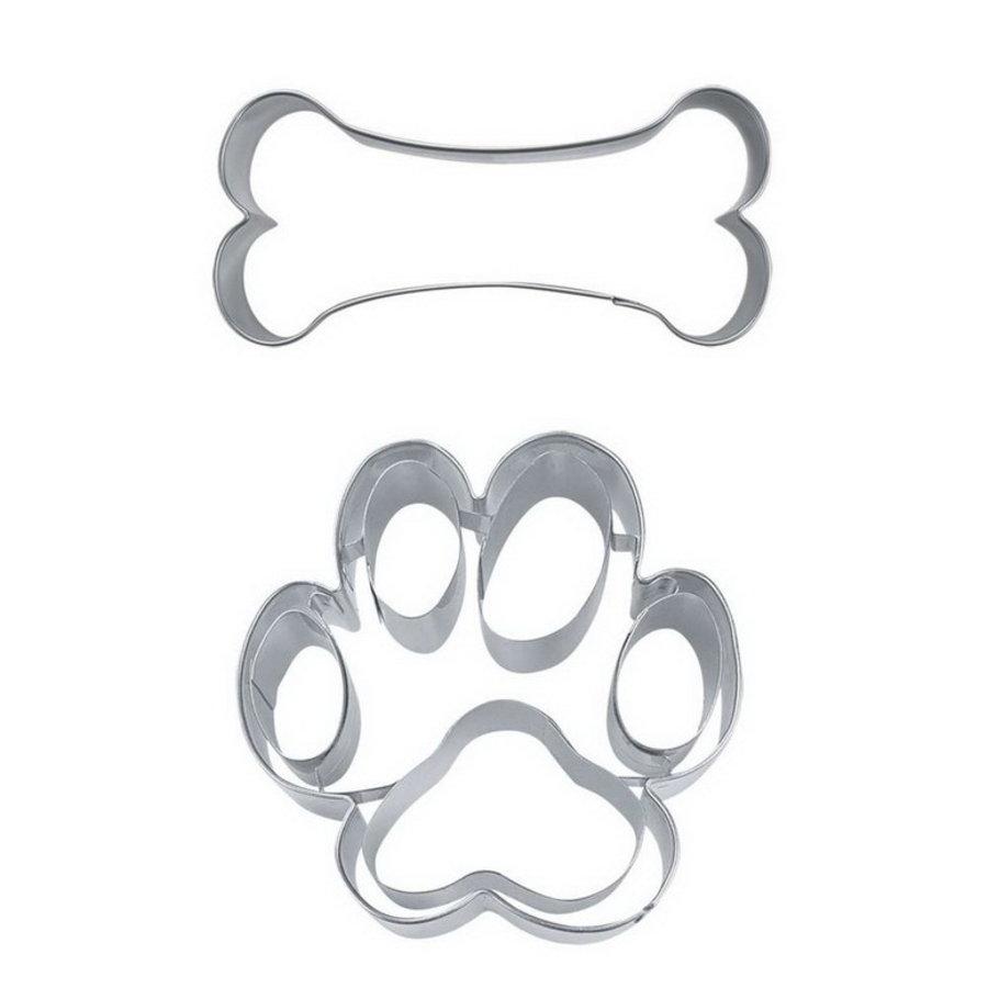 Uitsteekvormpje hondenpootje en bot