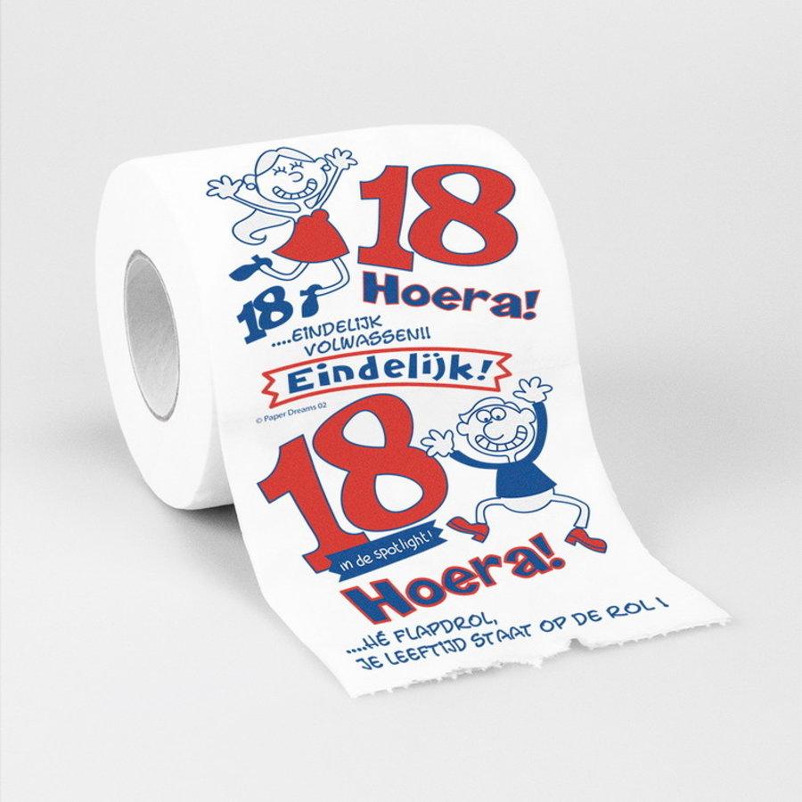 Toiletpapier 18 jaar