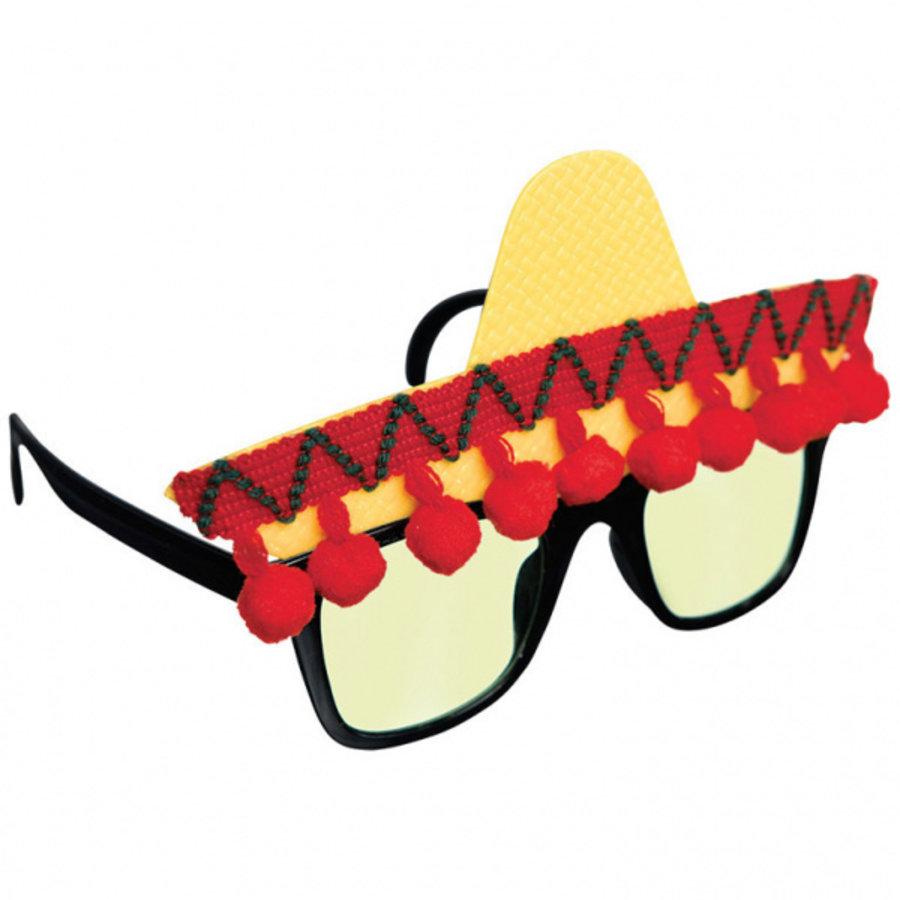 Bril met Mexicaanse sombrero