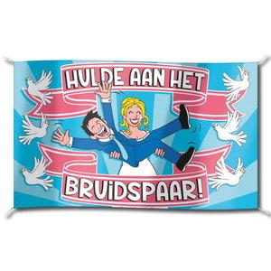 Vlag Hulde aan het Bruidspaar groot