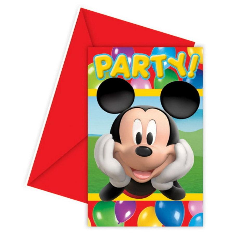 Uitnodigingskaartjes Mickey Mouse