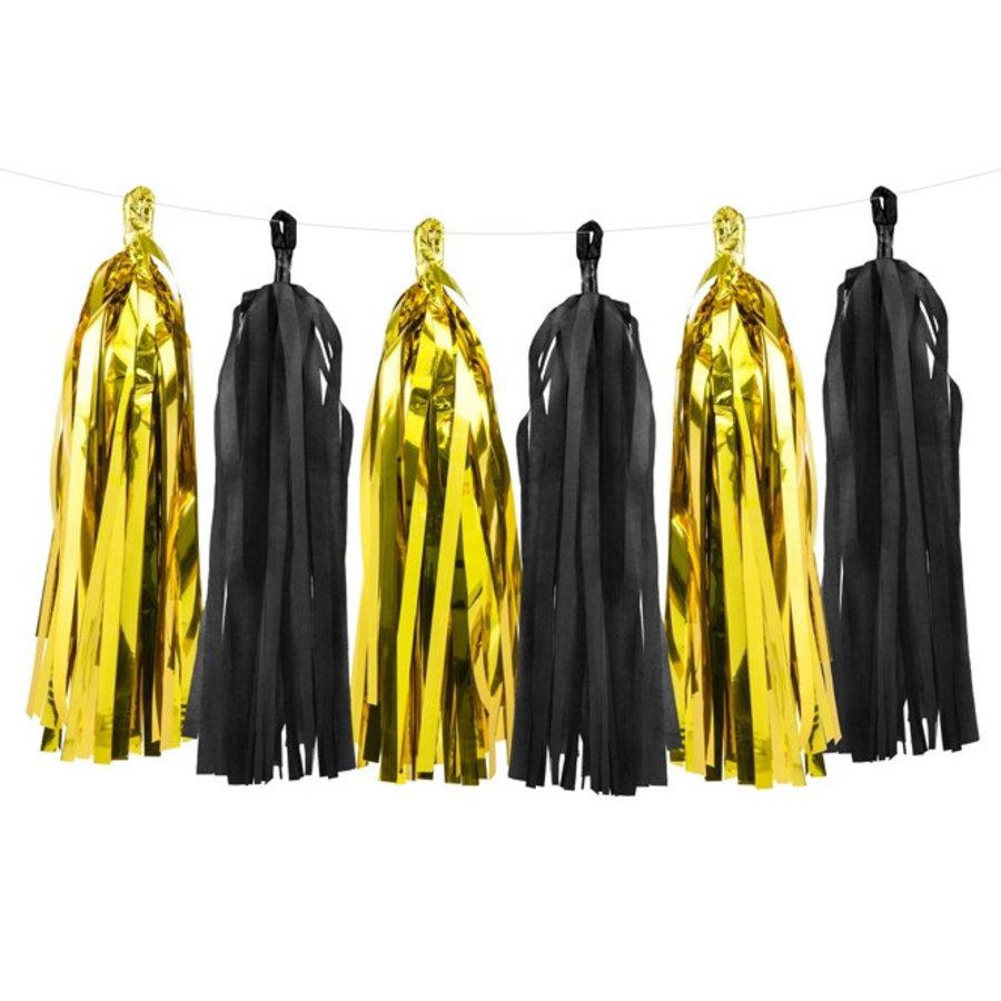 Slinger Tassel goud zwart DIY