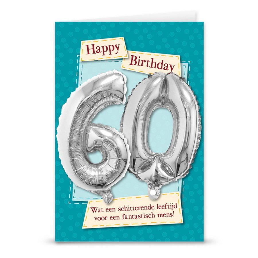 Kaart met folieballon 60 jaar
