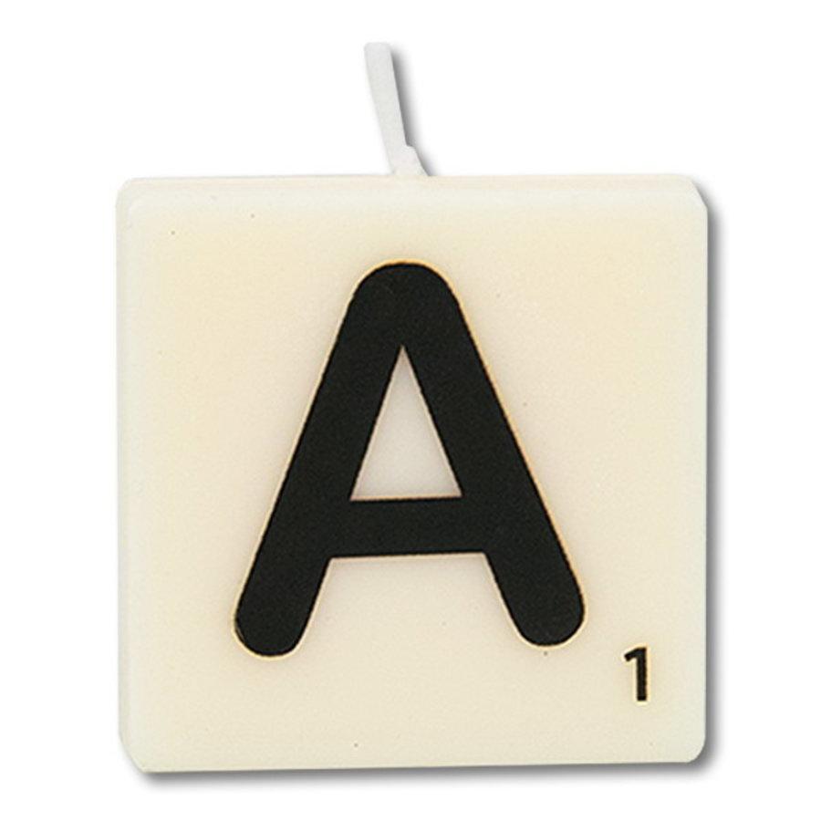 Letter kaarsje wit A