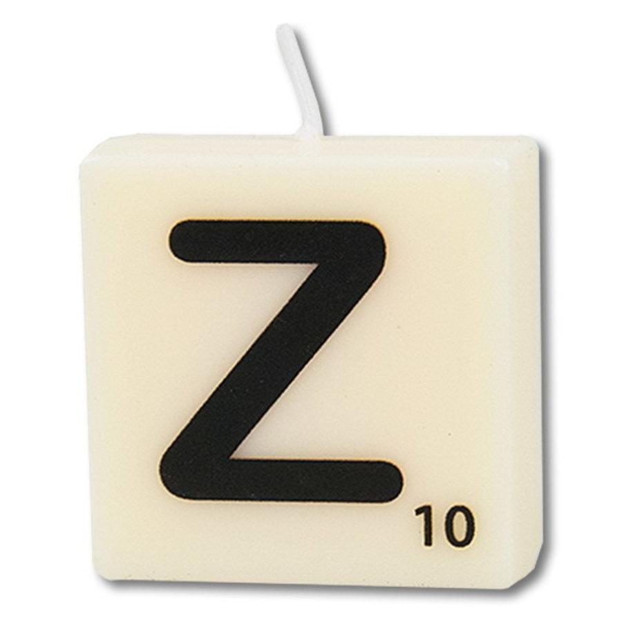 Letter kaarsje wit Z