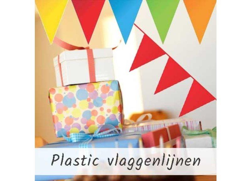 Vlaggenlijnen in effen kleuren, leeftijden of voor een themafeest