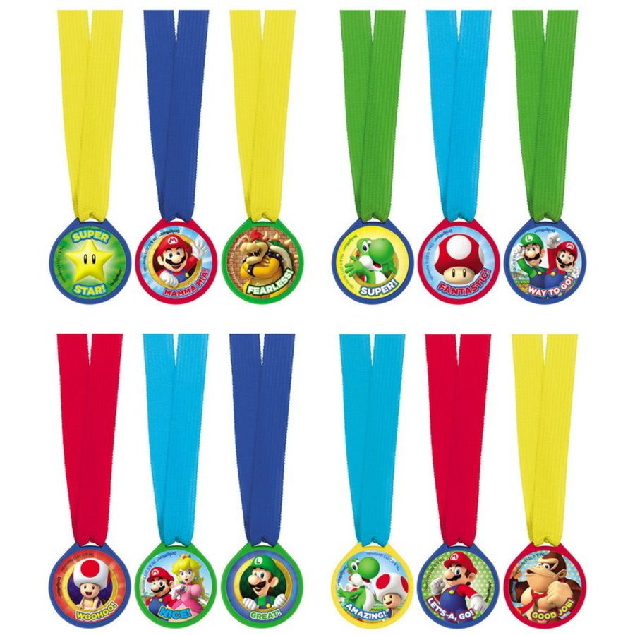 Medaille Awards Super Mario 12 stuks
