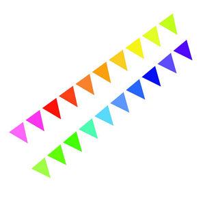 Vlaggenlijn op volgorde gekleurd 10 meter