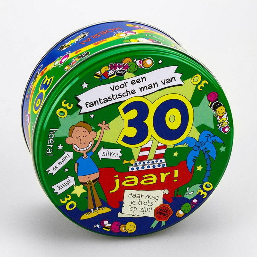 Snoep koekjestrommel 30 jaar man