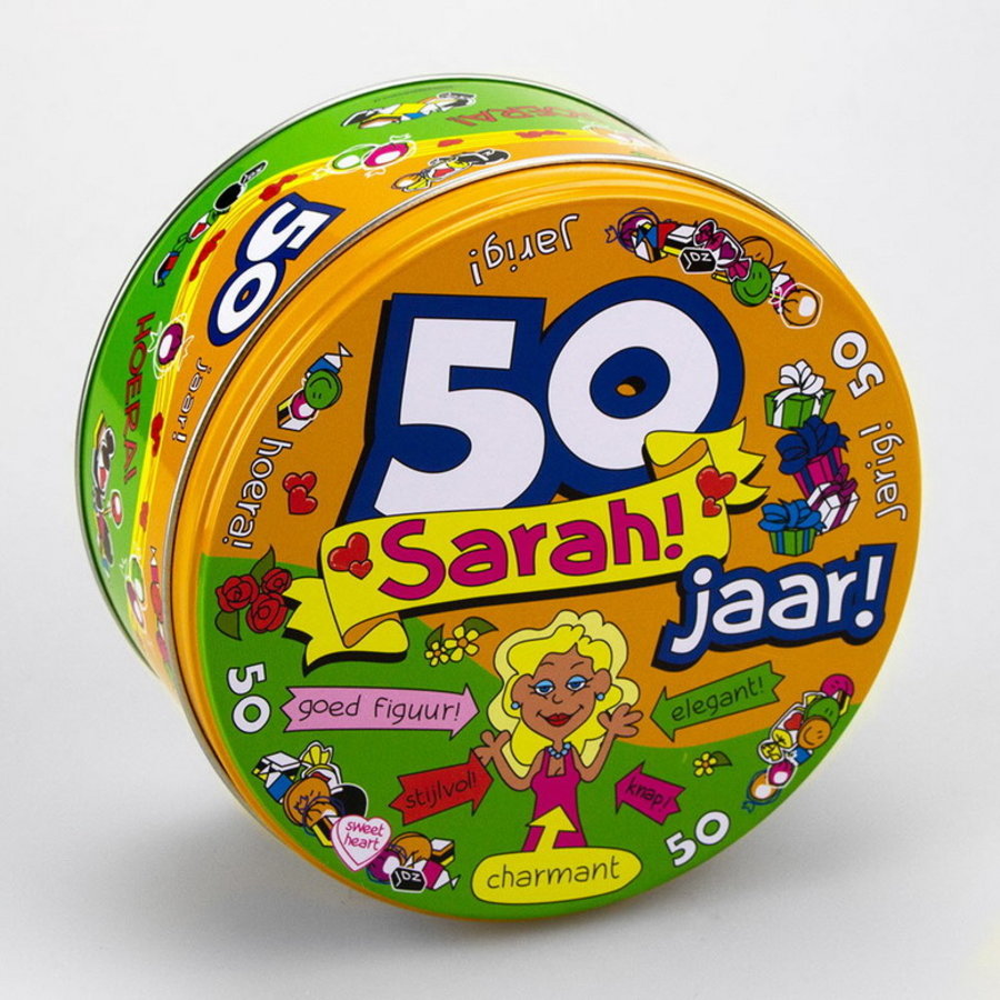 Snoep koekjestrommel Sarah