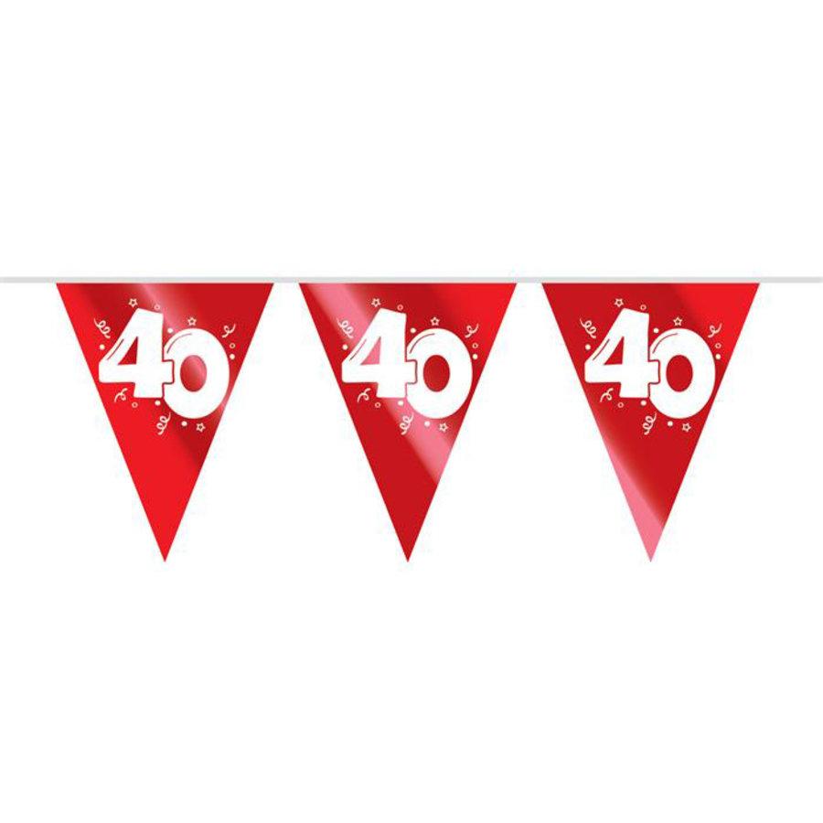Vlaggenlijn 40 jaar getrouwd robijn