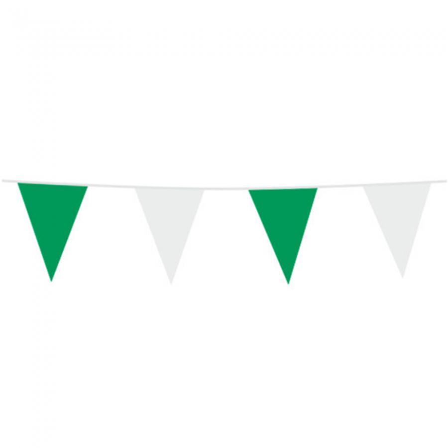 Vlaggenlijn groen wit