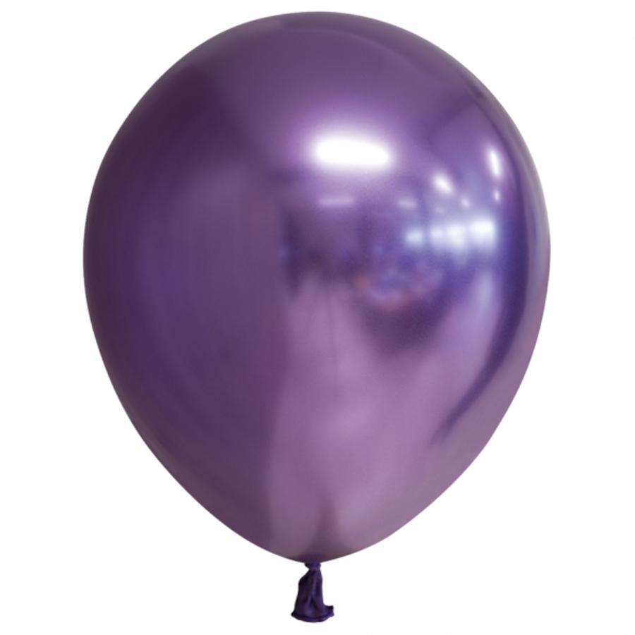 Chrome ballonnen paars 10 stuks