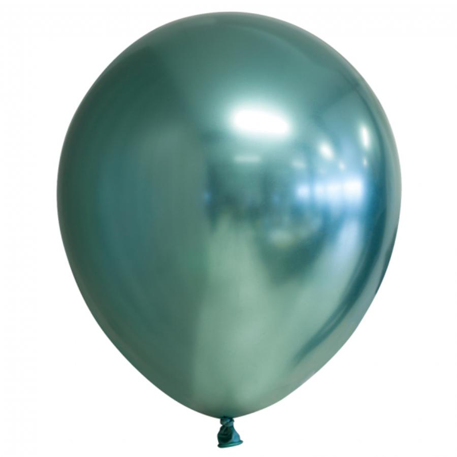Chrome ballonnen groen 10 stuks