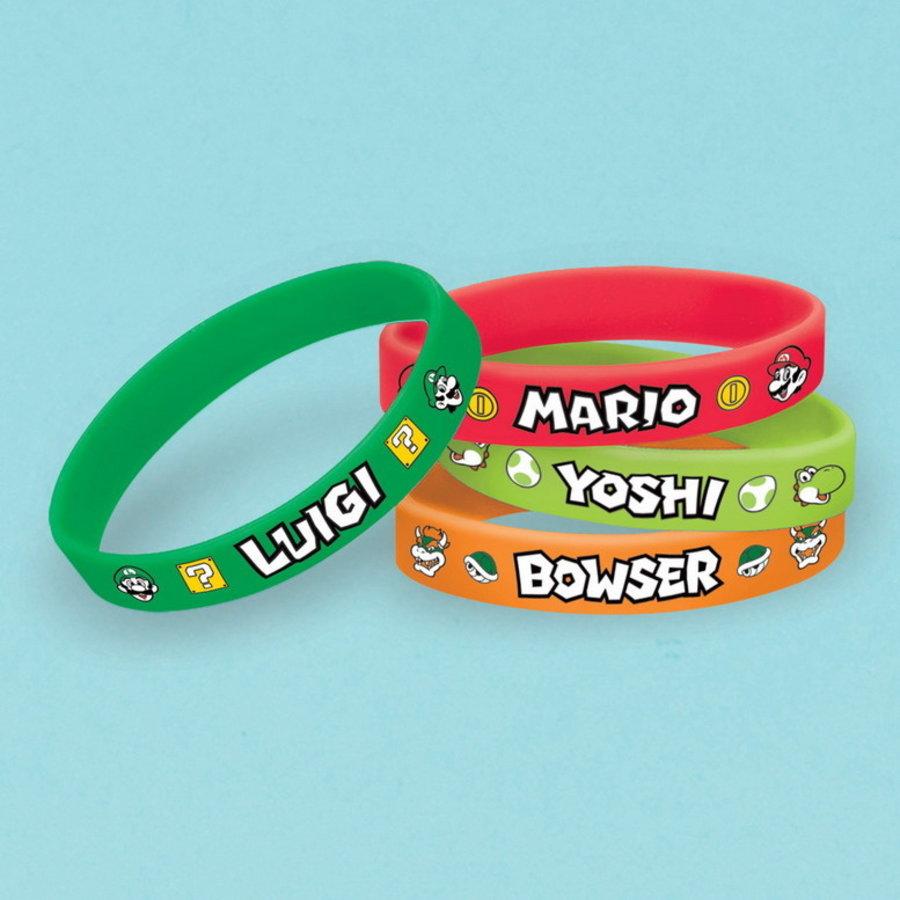 Armbandjes Super Mario en Friends 6 stuks