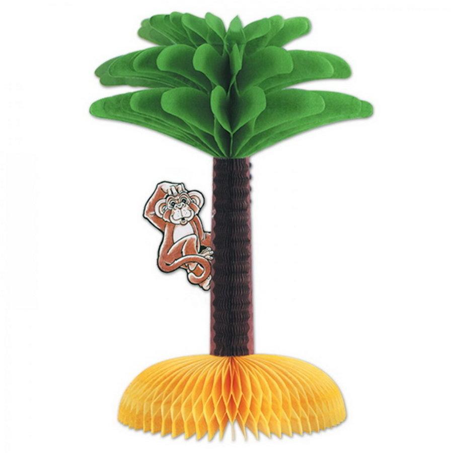 Tafeldecoratie palmboom met aapje