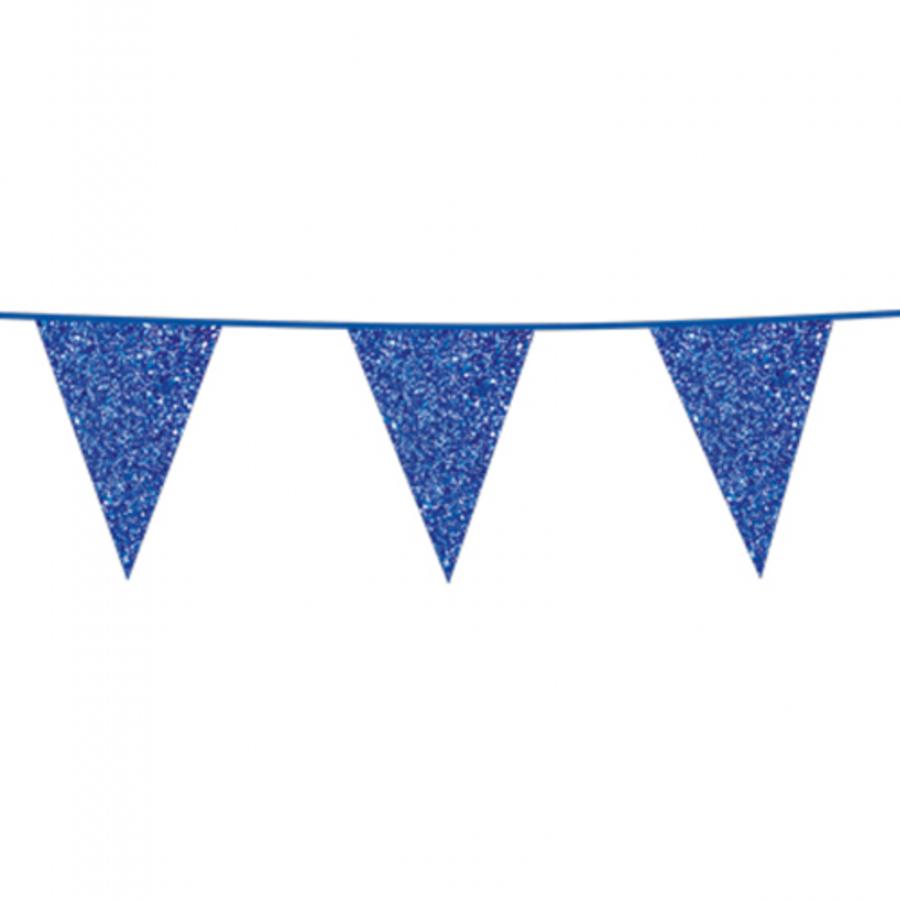 Vlaggenlijn glitter donkerblauw 6 meter