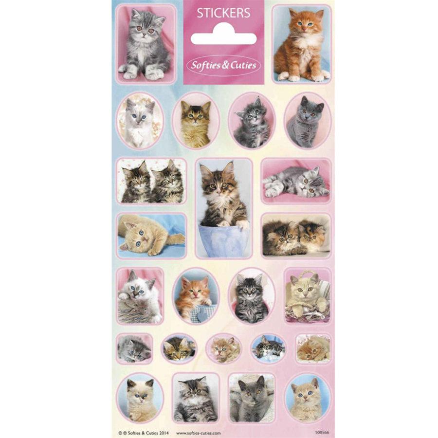 Stickers katjes 24 stuks