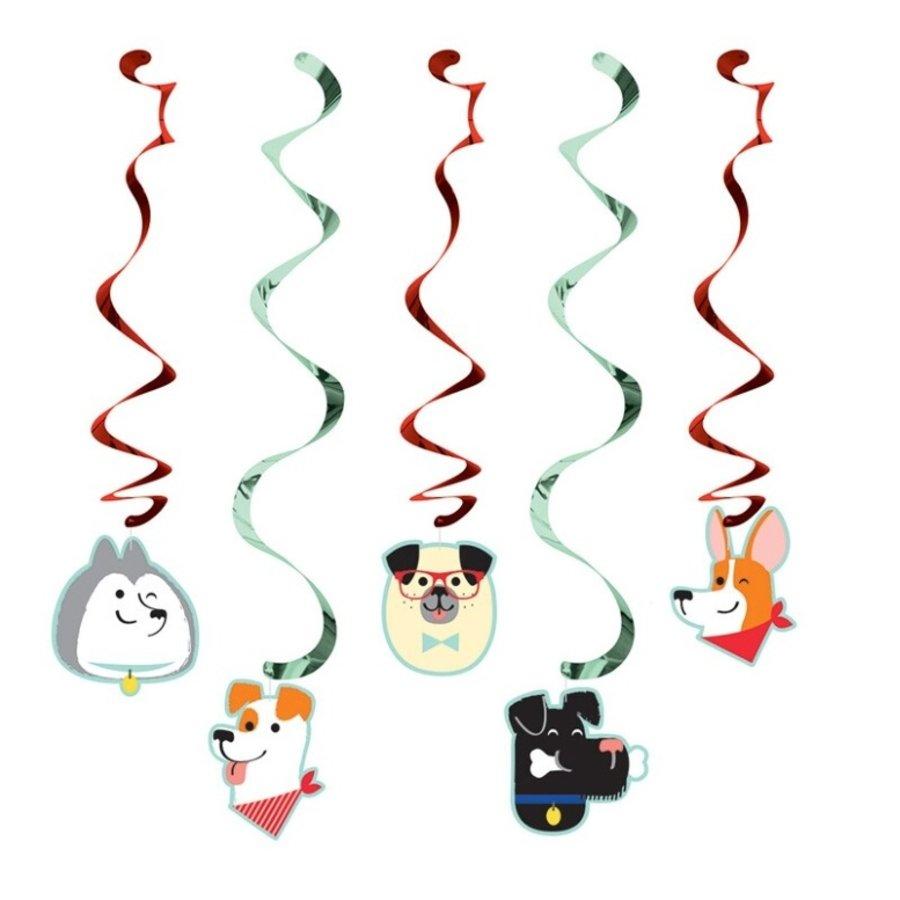 Hangdecoratie Dog Party 5 stuks