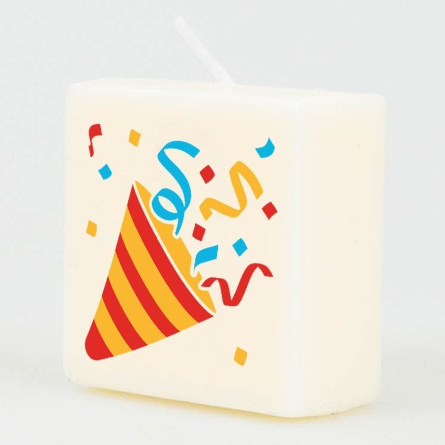 Kaarsjes wit Confetti