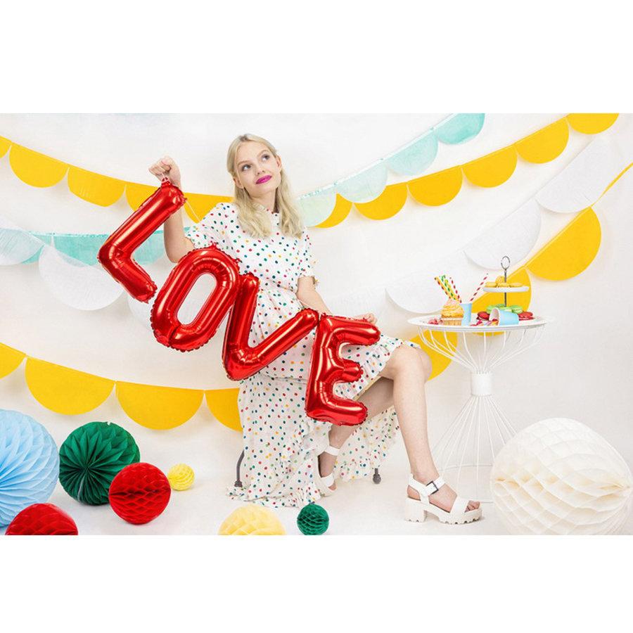 Folieballonnen LOVE rood