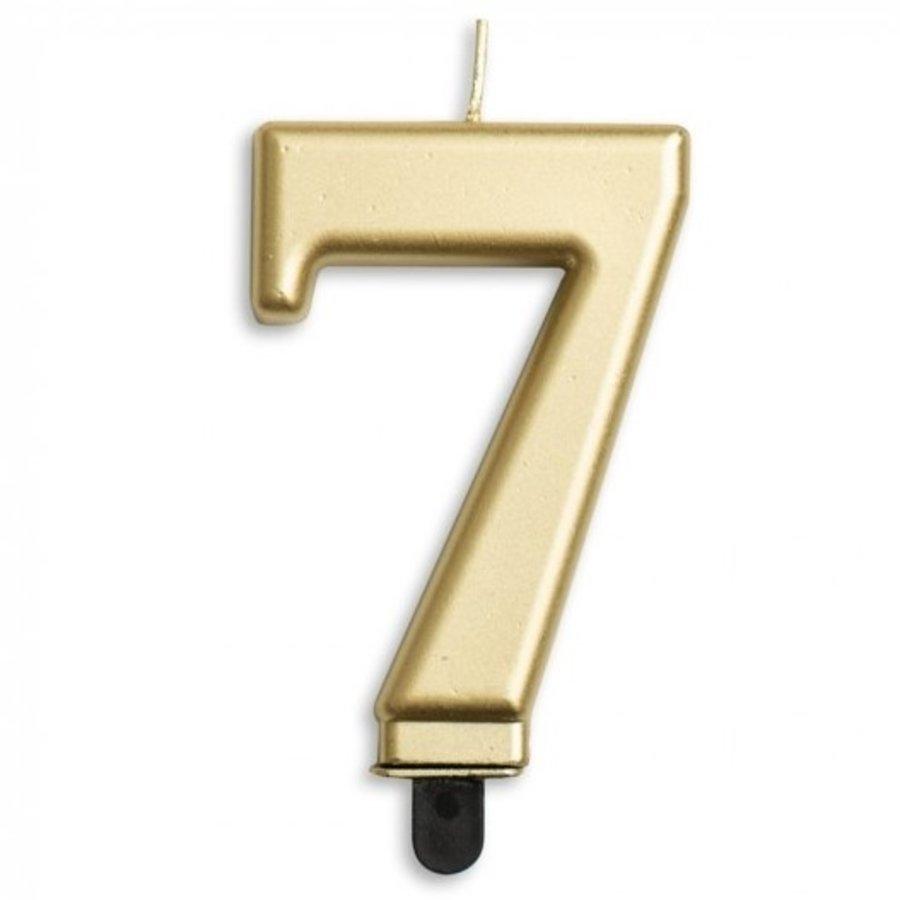 Kaars 7 jaar goudkleurig luxe