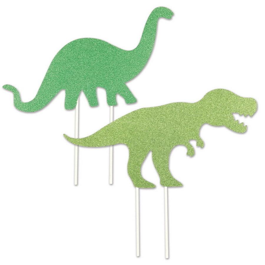 Taart Toppers Dinosaurus groot 2 stuks