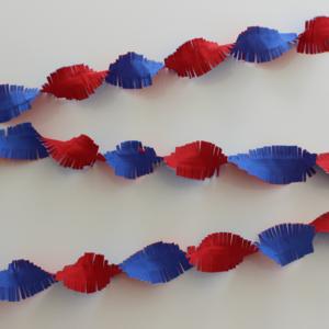 Brandvertragende slinger rood-wit-blauw 24 meter