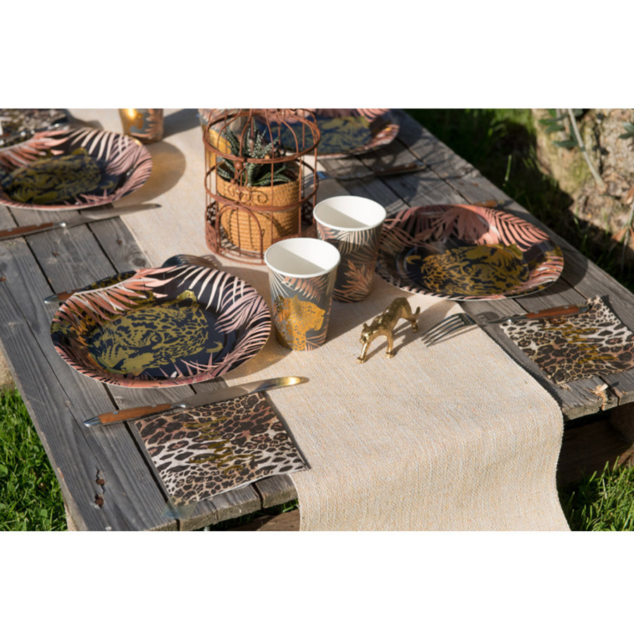 Servetten Jungle Luipaard luxe 20 stuks