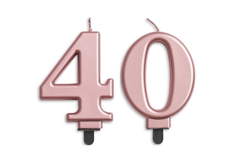 40 jaar taartkaarsjes