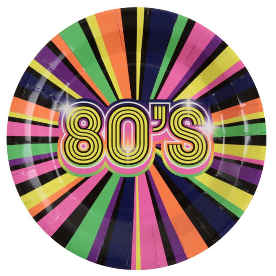 Bordjes Back to the 80's 10 stuks